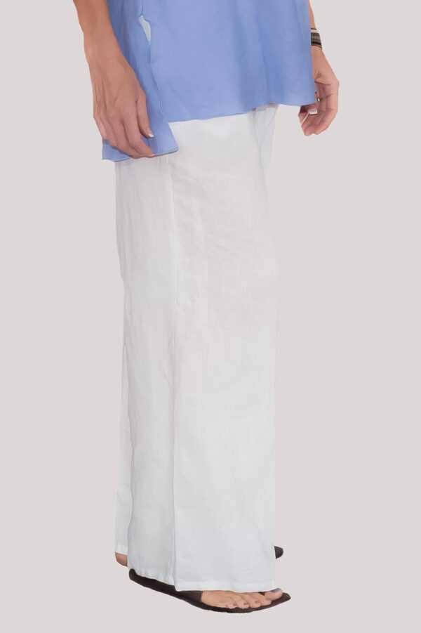 Ann Pant Side- White