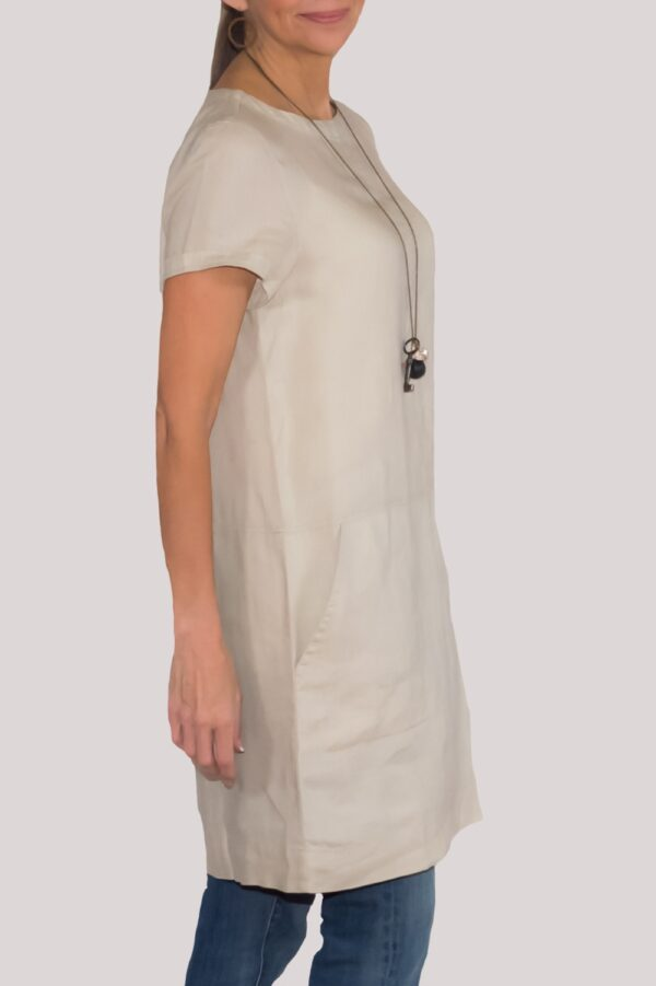 Carson Dress Side- Khaki