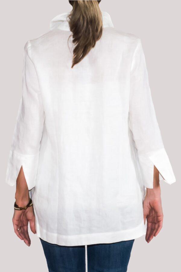 Logan Shirt Back-White