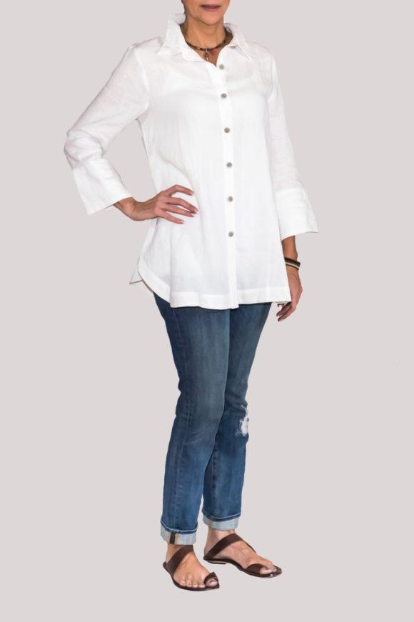 Logan Shirt Full-White