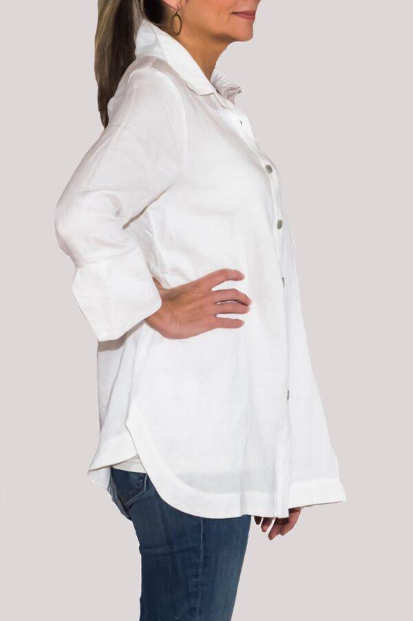 Logan Shirt Side-White