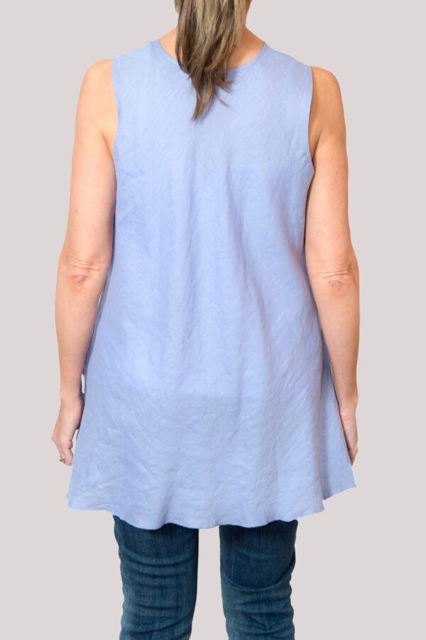 Megan Shirt Back- Blue