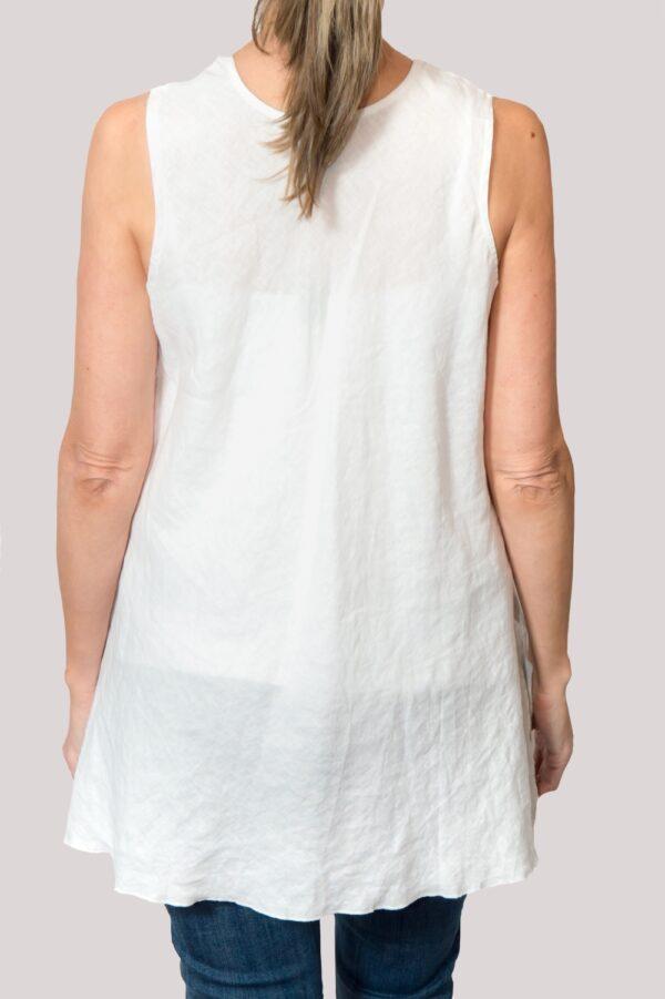 Megan Shirt Back- White
