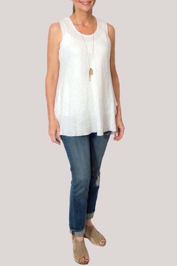 Megan Shirt Full- White