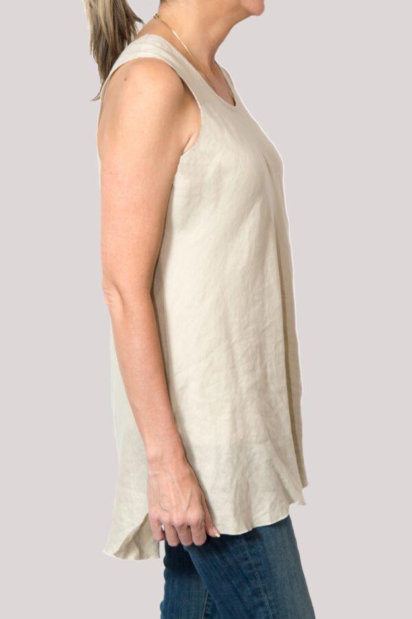 Megan Shirt Side- Khaki