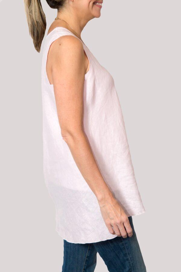 Megan Shirt Side- Rose