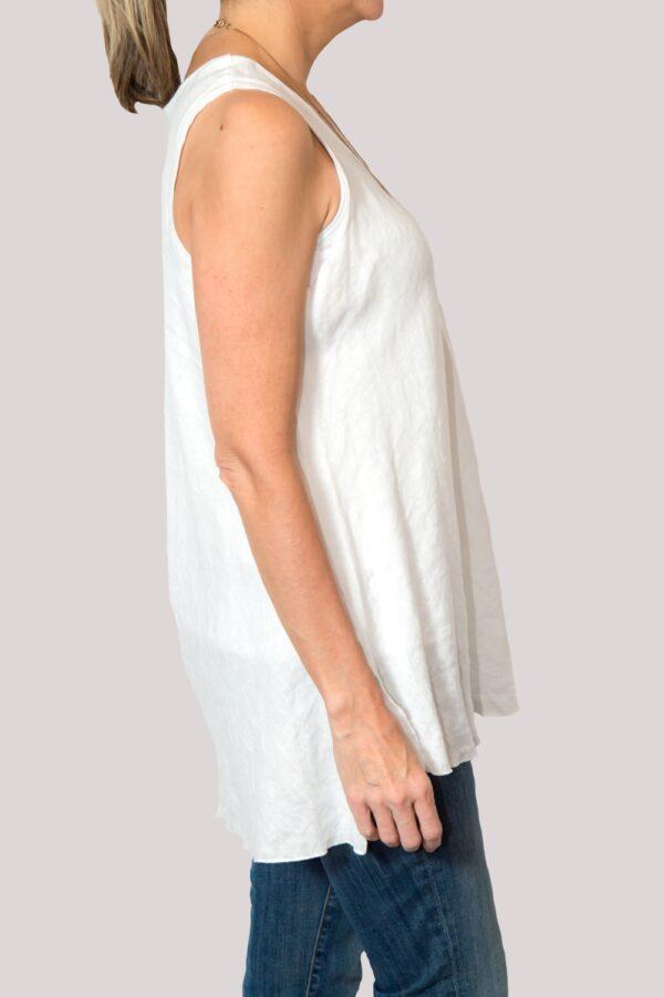 Megan Shirt Side- White