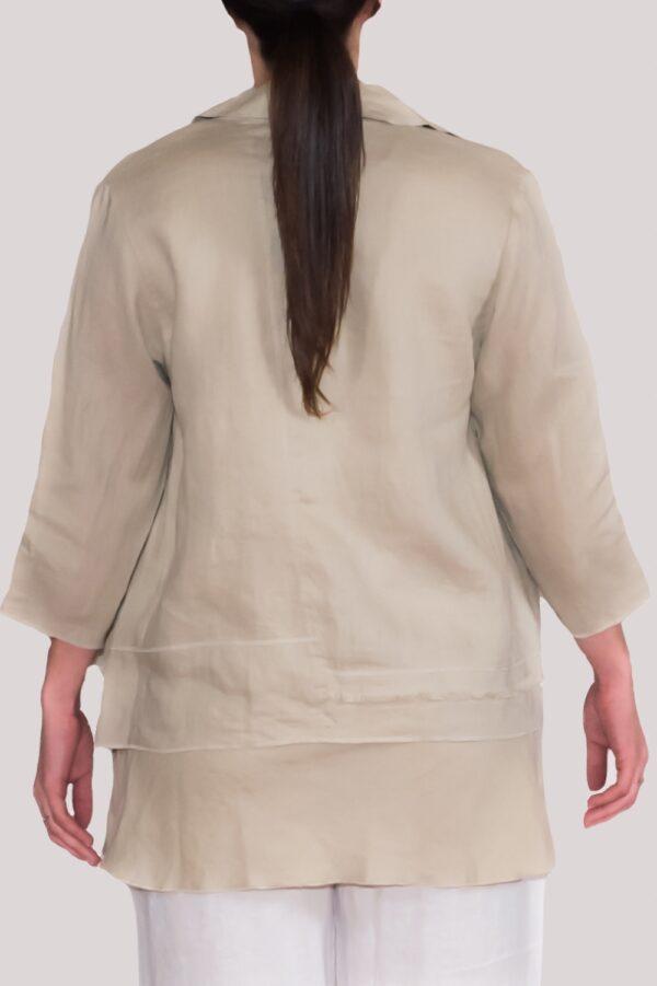 Olivia Shirt Back- Khaki