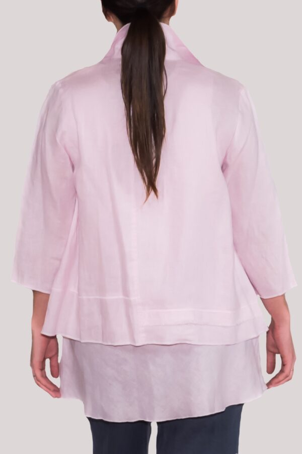 Olivia Shirt Back- Rose