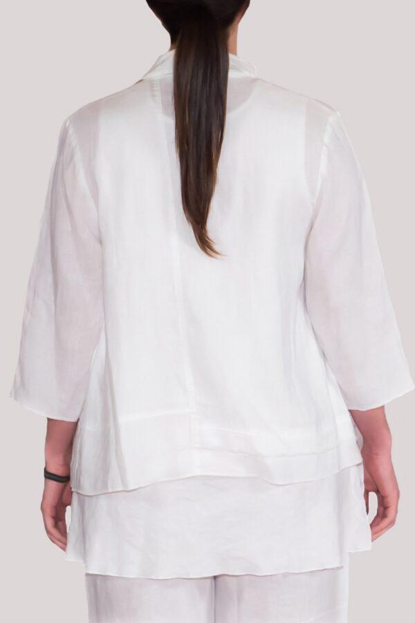 Olivia Shirt Back- White
