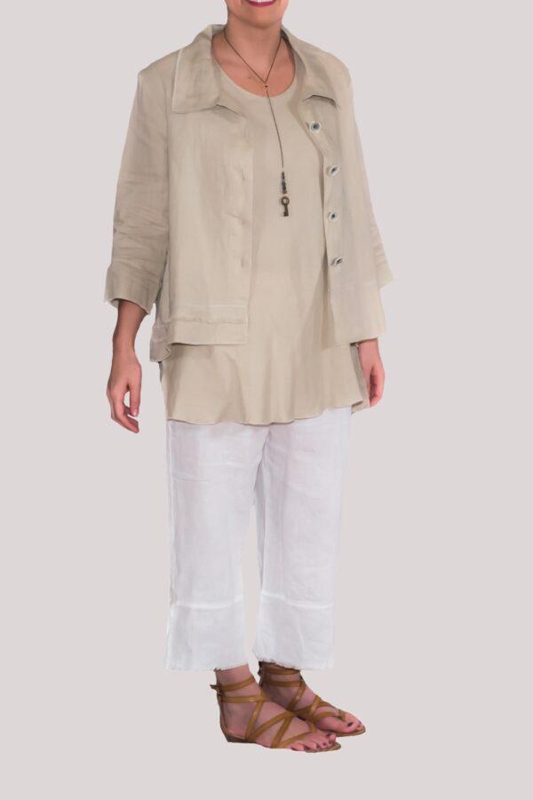 Olivia Shirt Full- Khaki