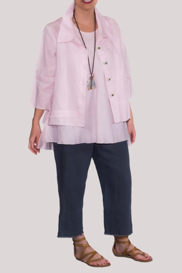 Olivia Shirt Full- Rose