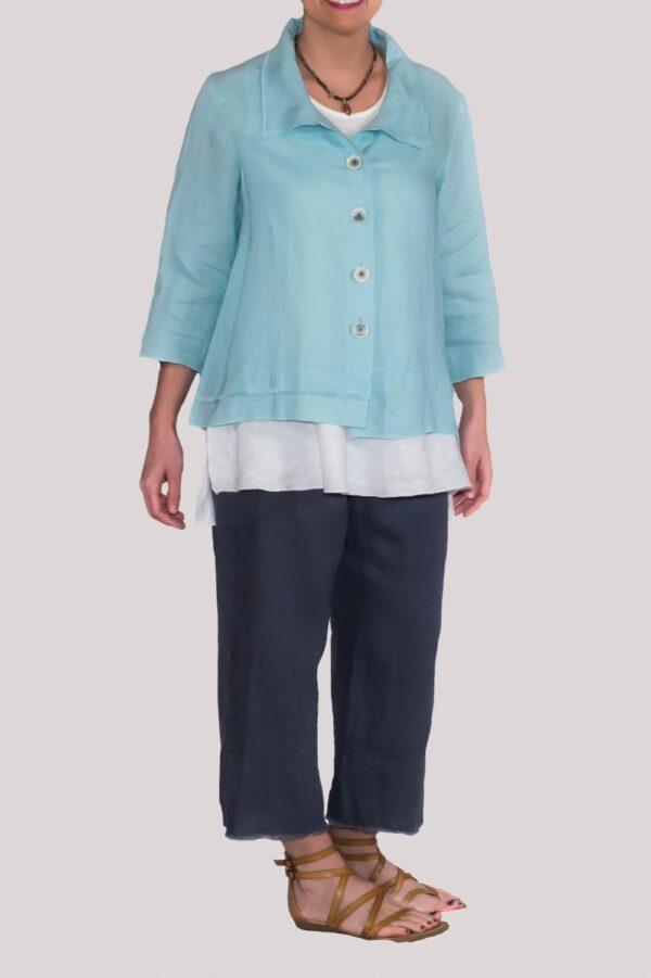 Olivia Shirt Full- Turquoise