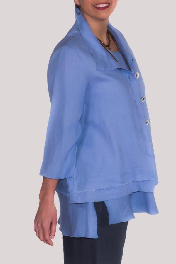 Olivia Shirt Side- Blue