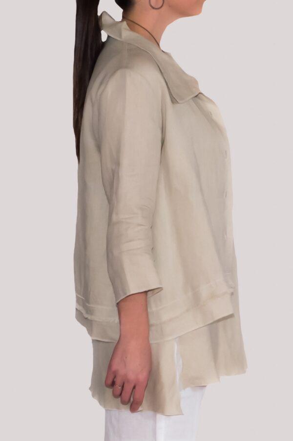 Olivia Shirt Side- Khaki