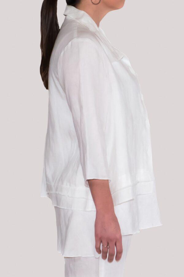 Olivia Shirt Side- White