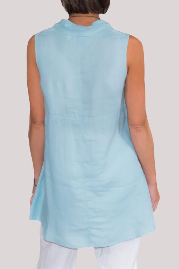 Paige Shirt Back-Turquoise
