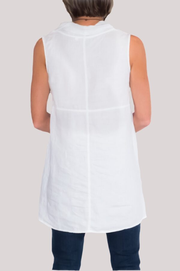 Paige Shirt Back-White