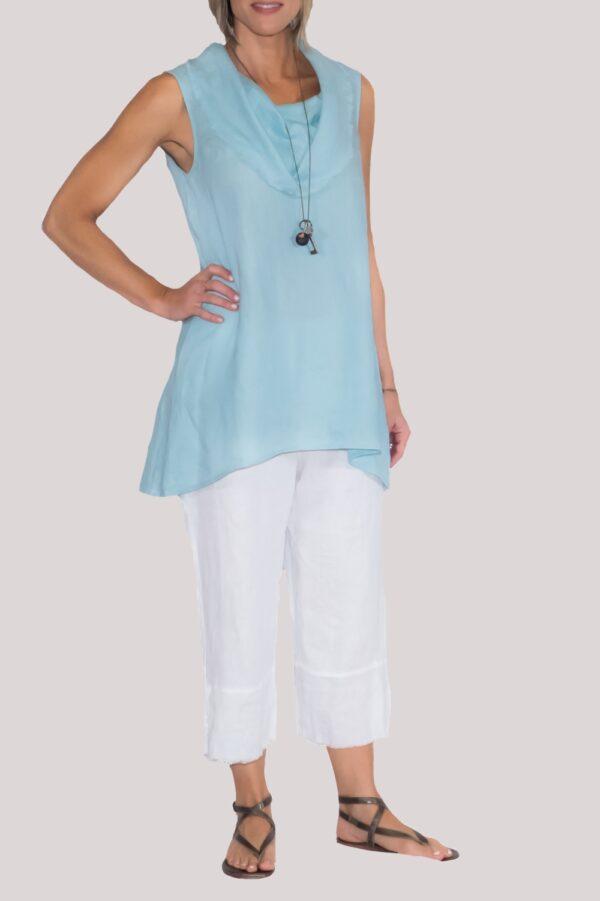 Paige Shirt Full-Turquoise